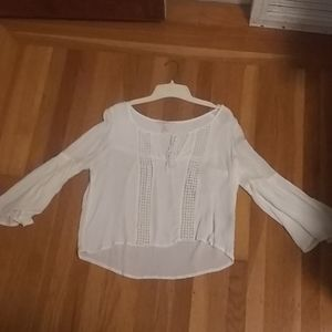 Forever 21 White Flowy Summer Top